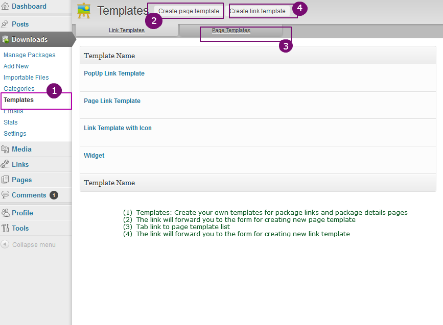 Integrated Templates - WordPress Download Manager